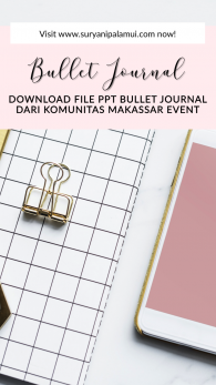 Download Gratis Materi PPT Bullet Journal dari Komunitas Makassar Event