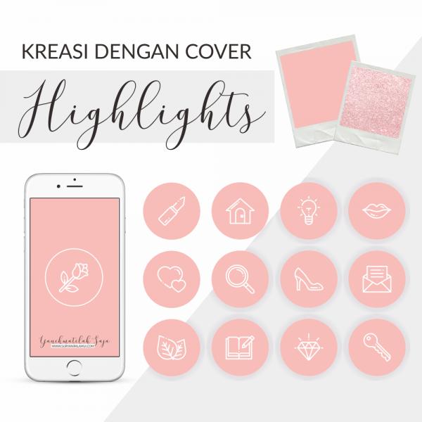 Cover Highlight Instagram - Pink & Putih Yanikmatilah Saja