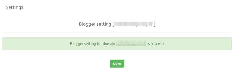 Setting Blogger