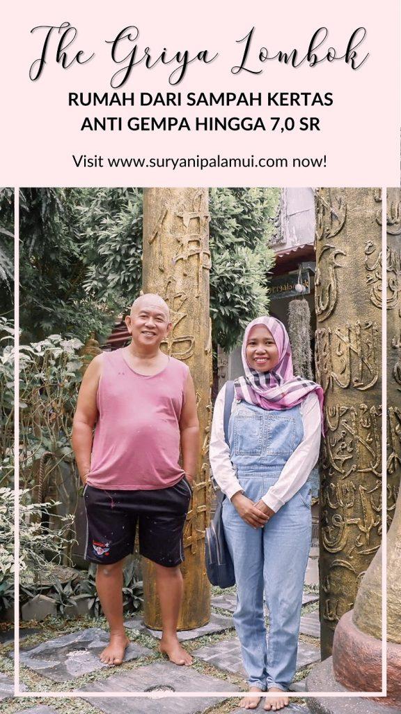 The Griya Lombok, Rumah dari Sampah Kertas Anti Gempa Hingga 7,0 SR Yanikmatilah Saja