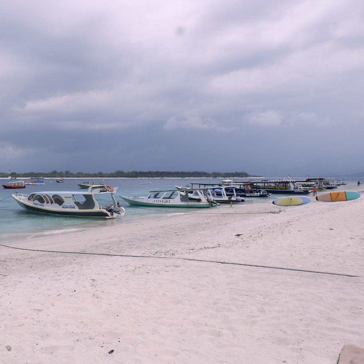 Boat in Gili Trawangan