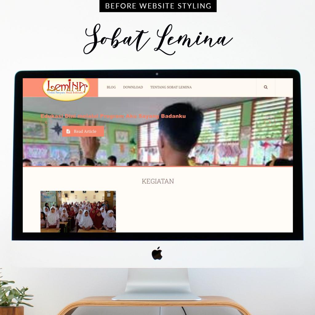 Tampilan Website Sobat LemINA (Before)