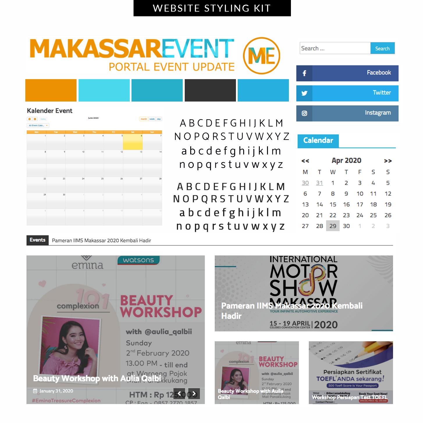 Desain Website Makassar Event