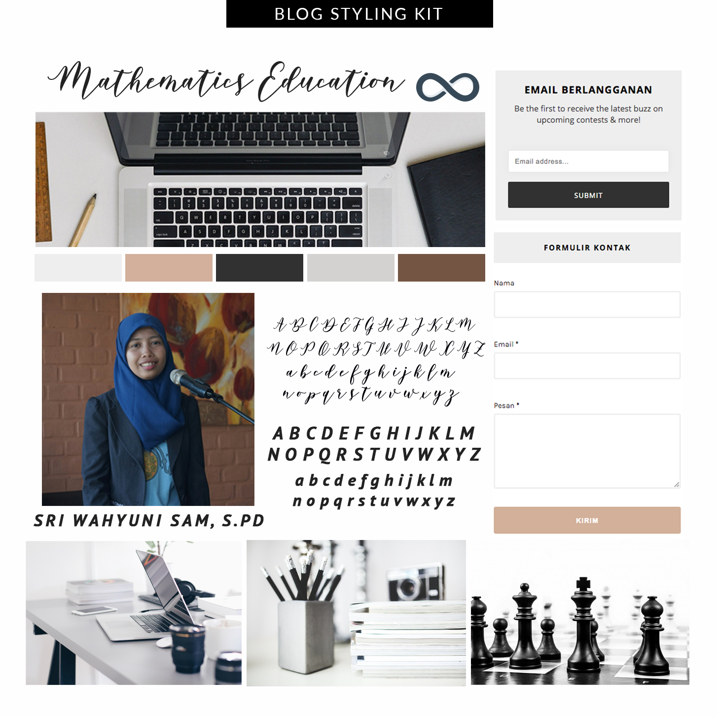 Desain Blog Mathematics Education
